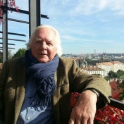 Robert v zahradách Pražského hradu.